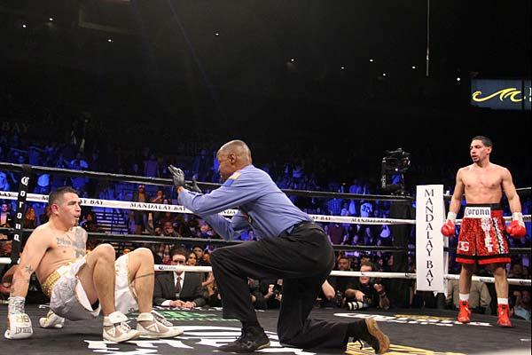 Garcia floors Rios for ninth-round TKO