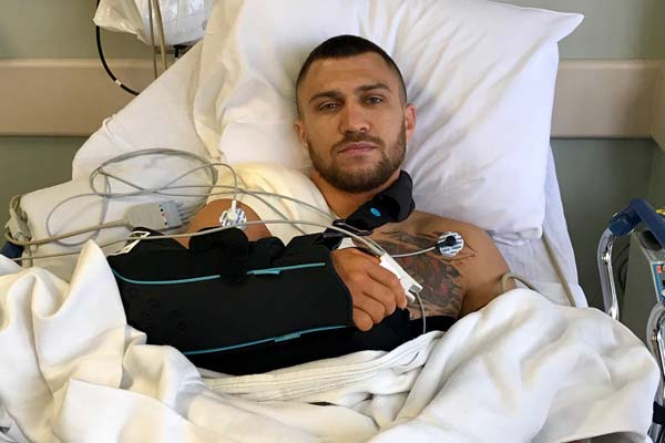 Vasyl Lomachenko determined to fight again this year after undergoing shoulder surgery