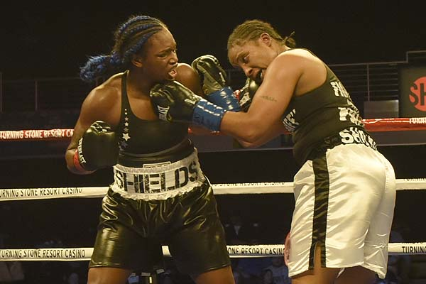 Claressa Shields takes aim at Christina Hammer